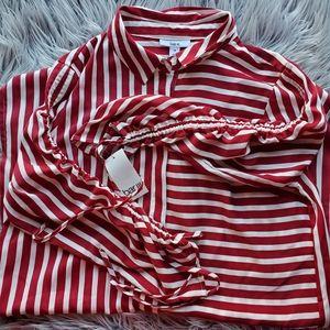 Bar III  Ruched High - low shirt